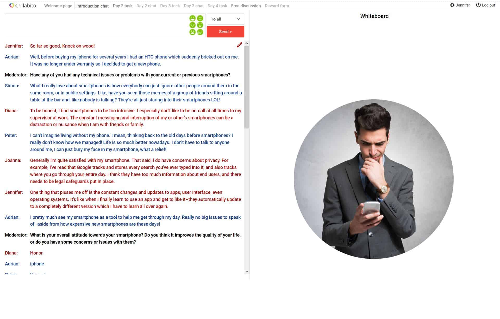 Online focus group - respondents
