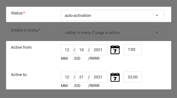 Online focus group tool - auto activation by date